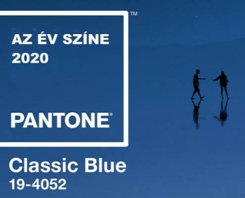 Klasszikus Kék, az év színe
